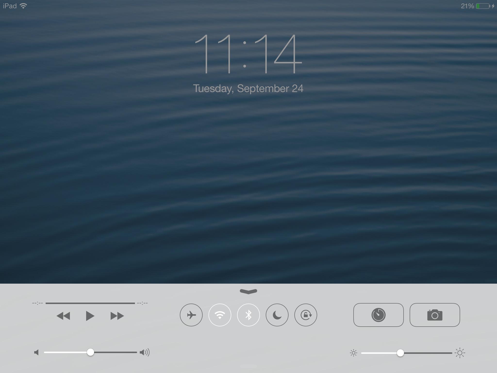 KB0014 - Lock screen rotation on an iPad (iOS 7) - Online Help