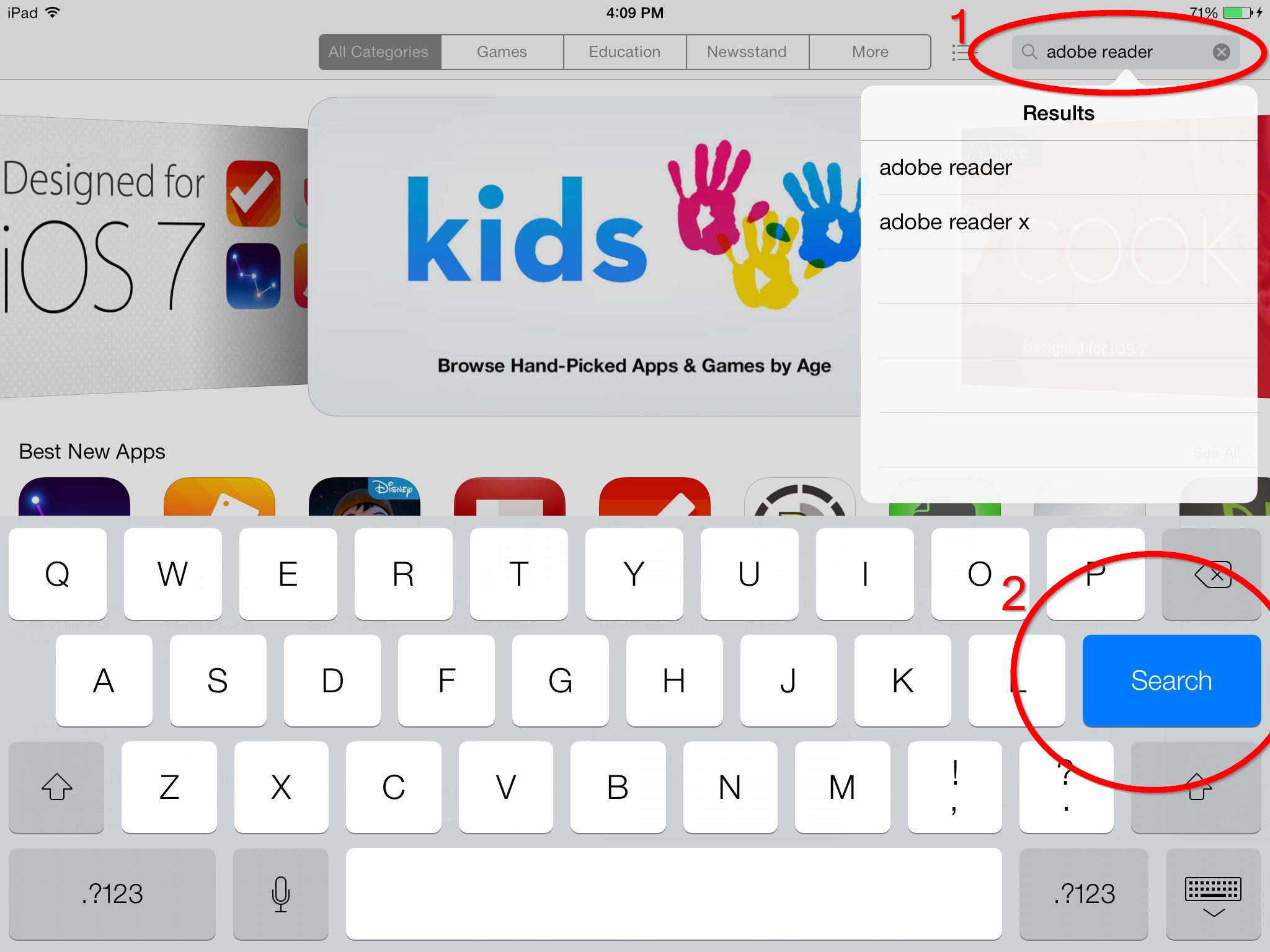 "The App Store is a virtual storefront where Apple-approved applications, or ""apps"" may be downloaded for use on an iOS device."