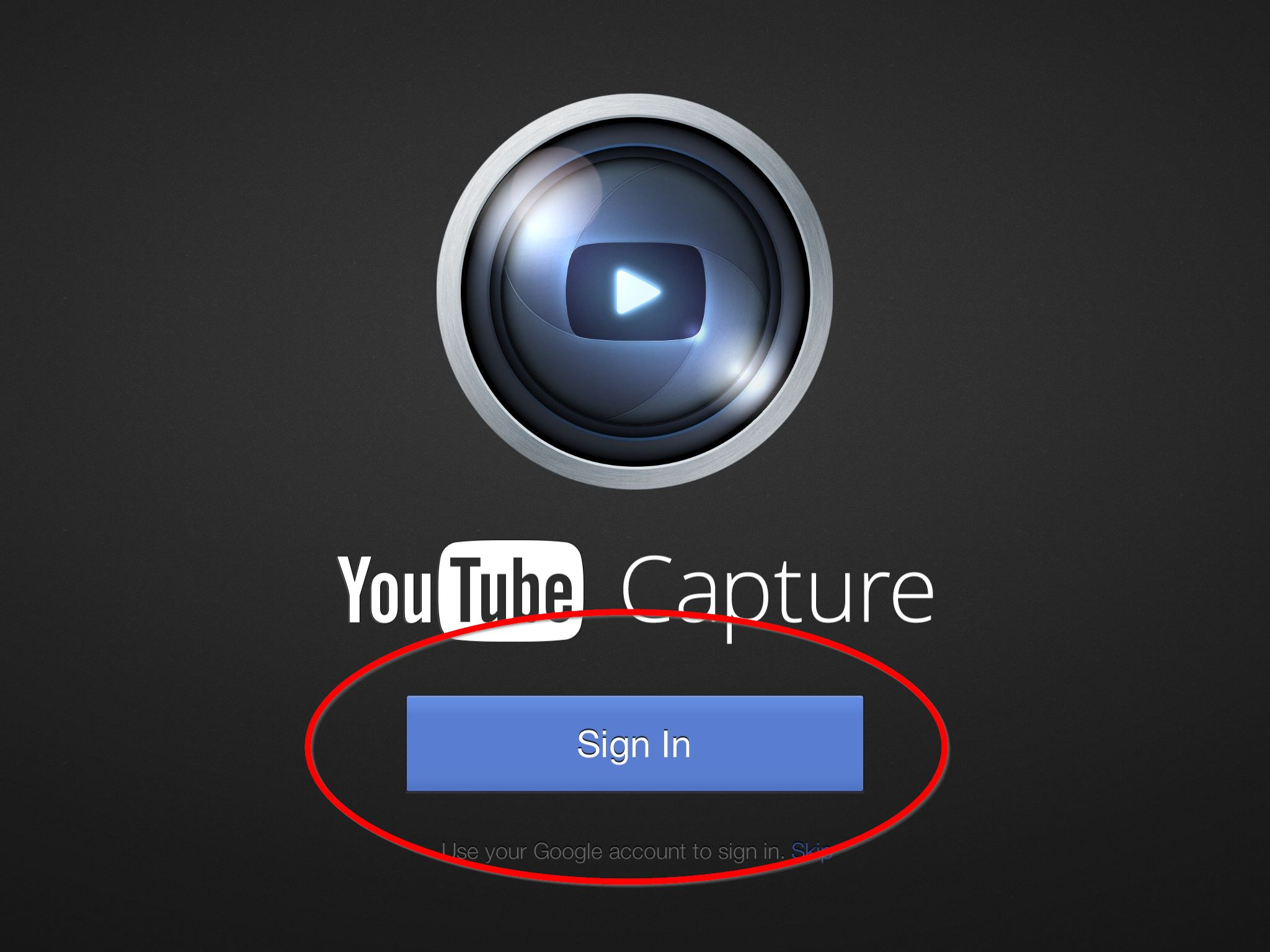 Tap sign in to begin the process. You must be signed in before you can upload videos to YouTube.