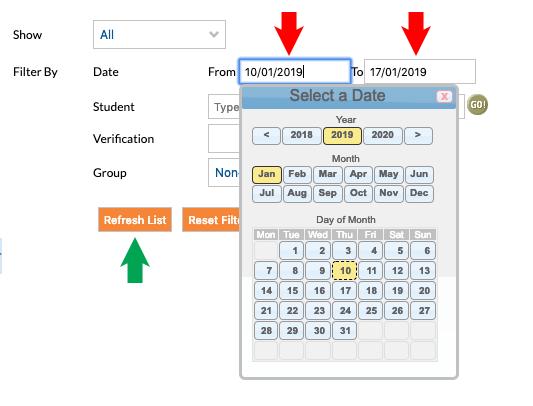 KB0201 - Parent portal absences procedure - Online Help